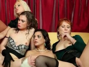 Coated in piss these ladies have a party