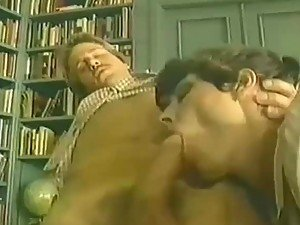 Horny Librarian Riding A Hard Dick In The Library In A Vintage Video
