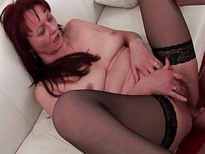 Two young dudes fuck one 50yo granny with pleasure
