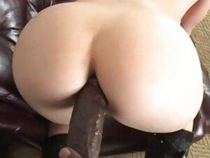 Hot ass pale blonde gets black bazooka doggy style in POV