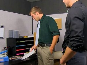 Austin Ried And Kirk Cummings - Fucked by the New Office Guy