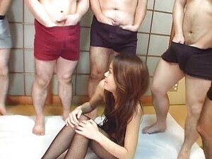 Kaoru Mugi Asian babe is in gang bang