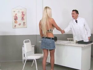 This doctor is busy as he makes his female patient's cum