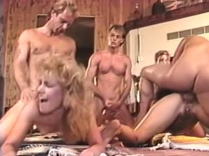 Vintage hotties banged hardcore in a great orgy