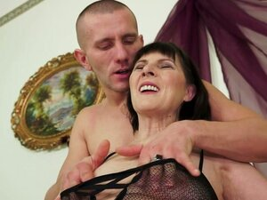 Kinky Mature Slut in Fishnet Outfit Getting Fucked