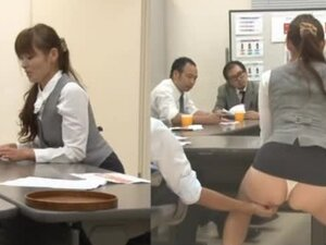 Office Pet Swallows Cum During Meeting.