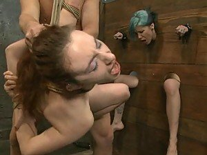 Crazy Sex with Two Hot Submissive Girls in BDSM Video