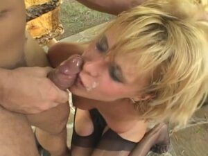Jennifer Max and Megan D enjoy hot sex in the garden