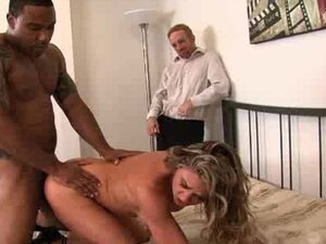 Amanda Blow's husband cheated on her so to get back at him she has her creamy pussy buttered by a big black cock!