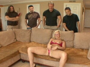 Beautiful Blonde Slut Tara Lynn Foxx Gets Her Mouth Filled With Sperm By Multiple Fat Cocks!