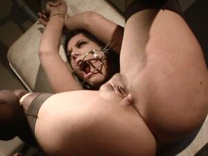 Domination victim Madison is happy to be tied and forced