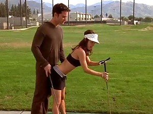Hot Kristina Anapau Learing to Play Golf