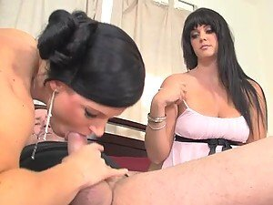 Alison Tyler and India Summer share Mark Davis's hard dick