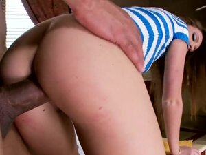 Naughty and beautiful redhead babe Maddy OReilly is getting pounded very well! She sucks big cock before riding it up feeling in cunt and performing great rodeo.