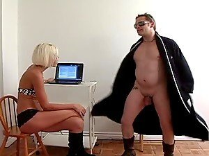 Chick With High Heels Punching & Kicking A Dude's Crotch.
