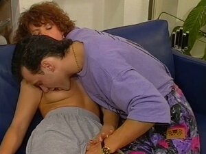 Hairy vintage redhead gets pussy licked and fucked