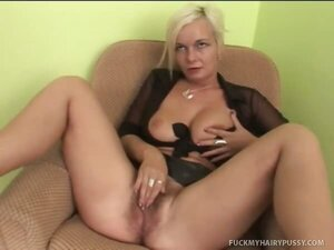 Slex Fills Her Sexy Hairy Hole With a Giant Cock