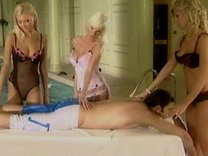 Blonde Babes Have Group Sex With A Big Cock