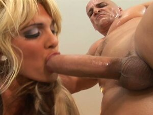 Stunning blonde milf takes huge cock