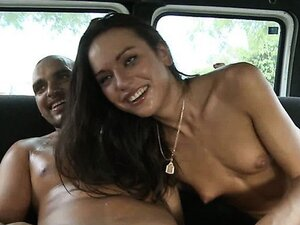 Nataly Gold has fun with her friend in a car. Reality video.