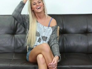 Big facial for casting couch blonde