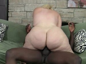 Chubby blonde Monica and giant black dick