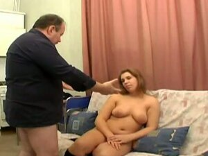Chubby brunette slut get it down and dirty with old man