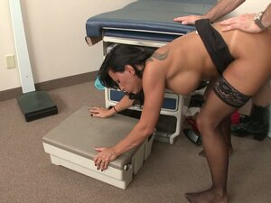 Sexy brunette MILF Lezley Zen gets pounding from her gynecologist