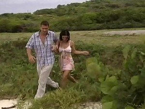 Horny Brunette Nikky Rider Having Anal Sex Outdoors at the Beach