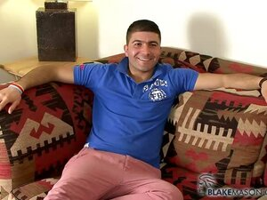 Handsome Italian sporty student Gino Carno jerks his 8