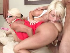 Rikki and her step mom  Nikita  take turns getting their pussies pounded.