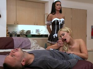 Maid Jessica Jaymes joins the fun with Shyla Stylez