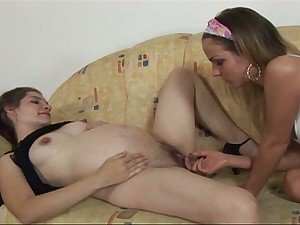 Lesbian barefoot and pregnant encounter