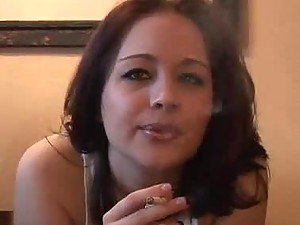 Sexy Smoking Chick Haley Crush Talking Dirty to Turn You On