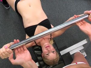 Two sporty lesbians are big fans of healthy way of life. The go to the gym, eat healthy food and have healthy lesbian sex every day no matter at home or in the gym.