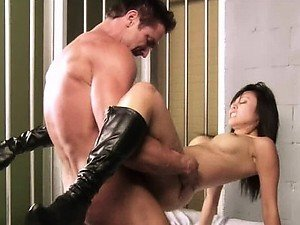 Asian Celeb Christine Nguyen Gets Fucked Wearing Sexy Leather Boots