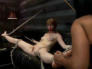 Redhead MILF Gets Fisted and Strapon Fucked By Dominating Brunette