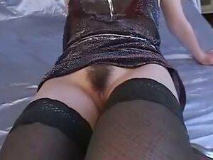 Trimmed pussy is toyed until wet and then squirts out her girl juice