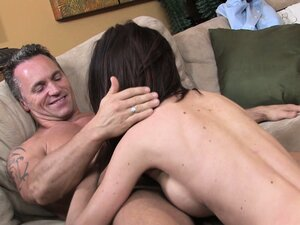 She climbs on his lap and bounces on him, then gets nailed doggy