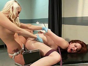Blonde Patient and Redhead Doctor Having Hot and Kinky Lesbian Sex