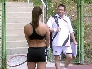 Tennis Instructor Fucking Raquel Devine In The Shower After Class