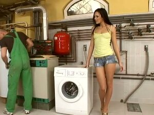 Laundry room seductions from Regina Moon