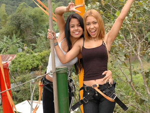Sexy latinas try real extreme