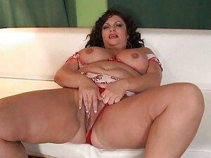 Slutty MILF fatty gets pounded on white sofa