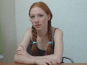 Porn interview with redheaded teen stacey
