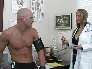 Lovely big breasted blonde doctor screwed by handsome patient