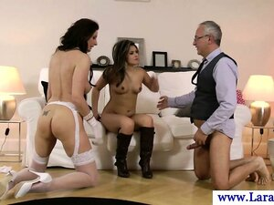 Euro glamour MILF cum swapping with babe