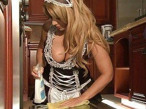 Naughty housemaid likes her master