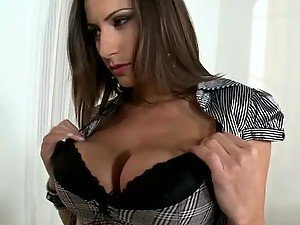 Cum on The Big Tits of The Hot Euro Teacher In Stockings Sensual Jane