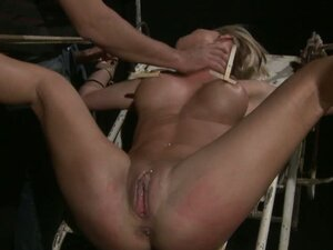 Hot Blonde Caged Beast Pearl Diamond Released for BDSM Sex